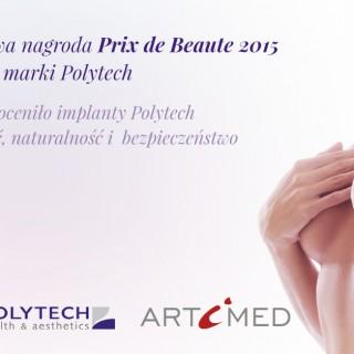 Międzynarodowa nagroda Prix de Beaute 2015 dlaimplantów marki Polytech